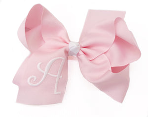 Banbury Large Monogram Bow Pink/White Letter