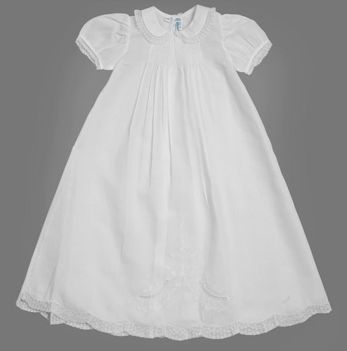 Feltman Ruffle Lace Collar Christening Gown