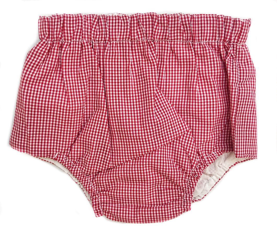 Baby Sen Red Gingham Diaper Cover