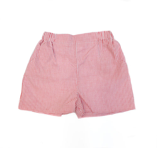 Red Windowpane Short