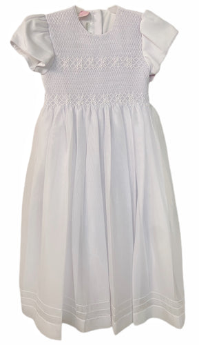 Will Beth Smocked Communion Dress with Sleeves