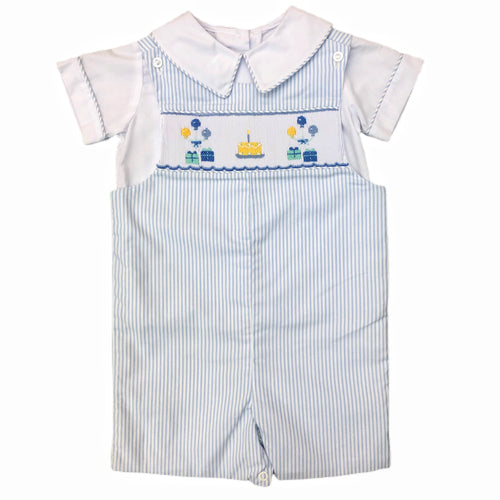 Banbury Blue Stripe Birthday Shortall with Shirt
