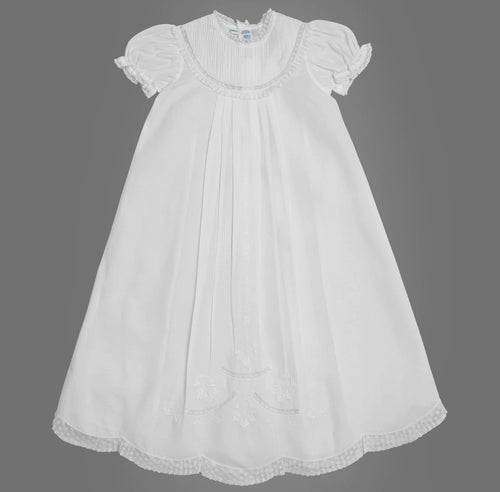 Feltman Pintucked Yoke Christening Gown