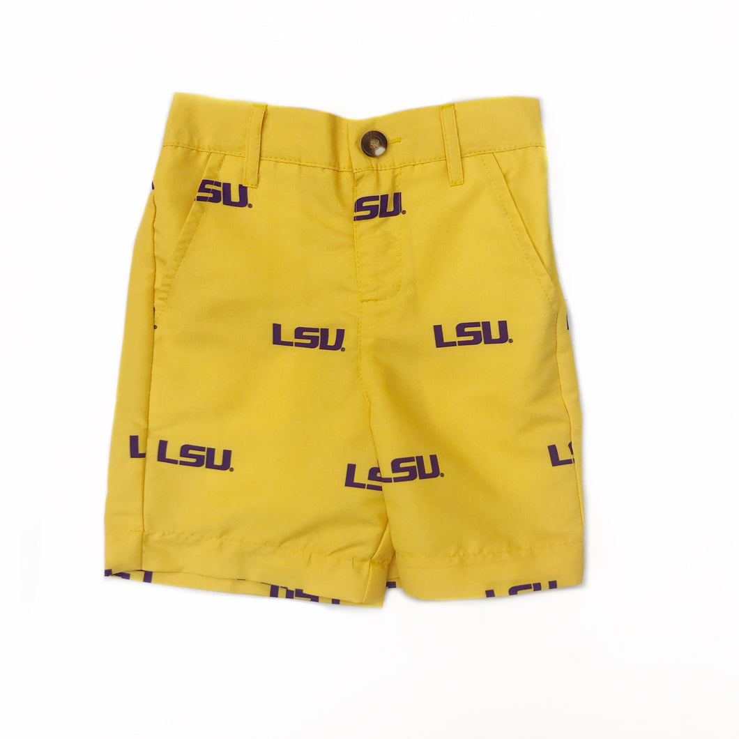 LSU Tigers Gold All Over Print Shorts