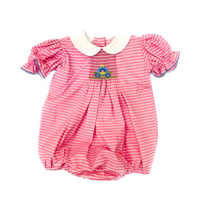 Smocked Giraffe Princess Carriage Bubble