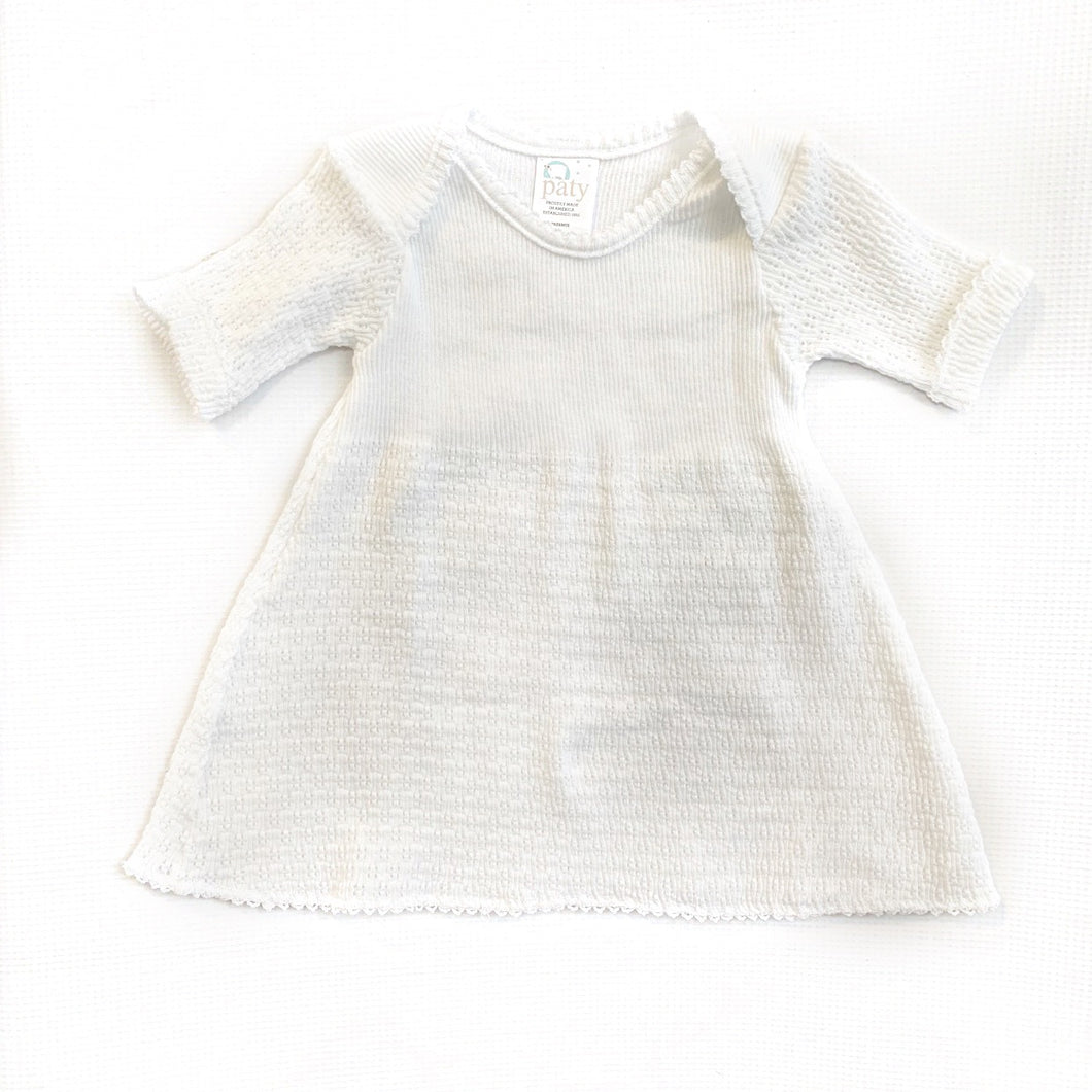 White L/S Paty Inc Dress