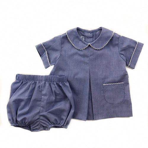 Banbury Cross Royal Micro Boy Bloomer Set