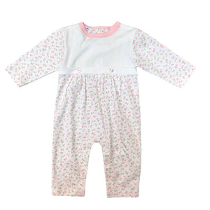 Baby Bliss Alice Pink Floral Bib Playsuit