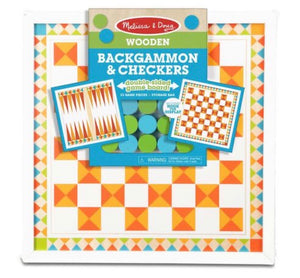 M&D Wooden Backgammon & Checkers