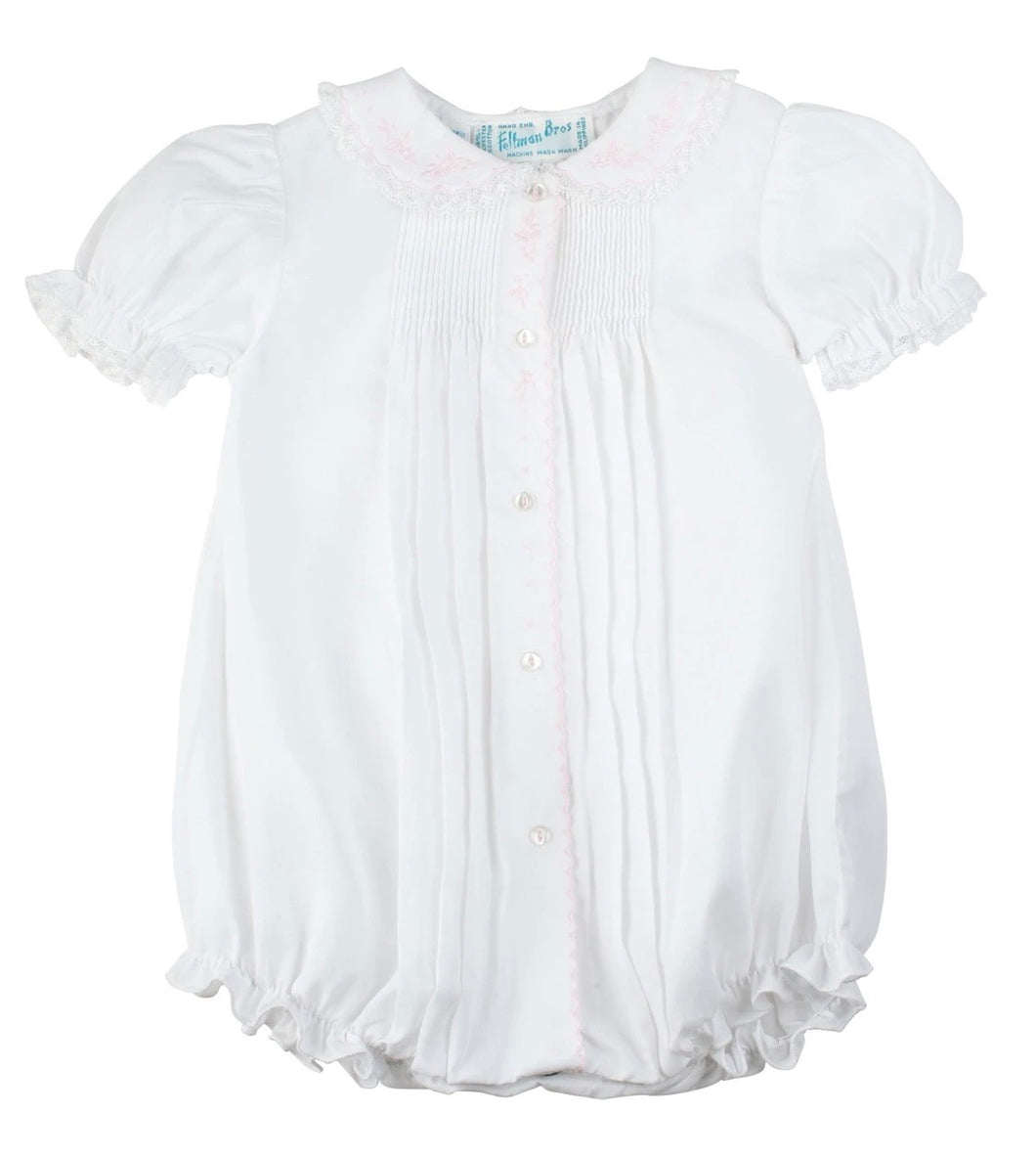 Feltman Button Front Girl Bubble-White