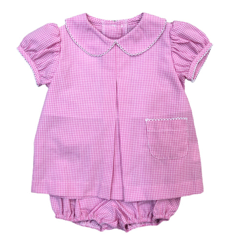 Banbury Cross Hot Pink Gingham Bloomer Set