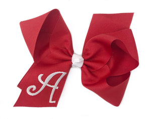 Banbury Large Monogram Bow Red/White Letter