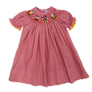 Snow White Smocked Dress
