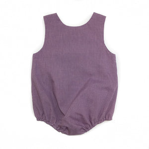 Banbury Button Shoulder Bubble Purple Check