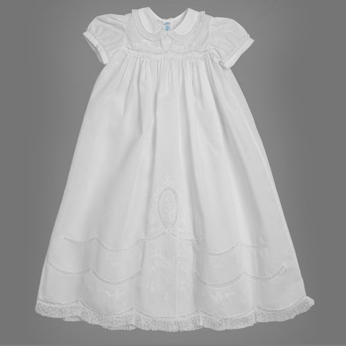 Feltman Scalloped Lace Baptism Gown