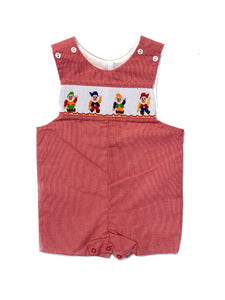 Snow White Smocked Shortall