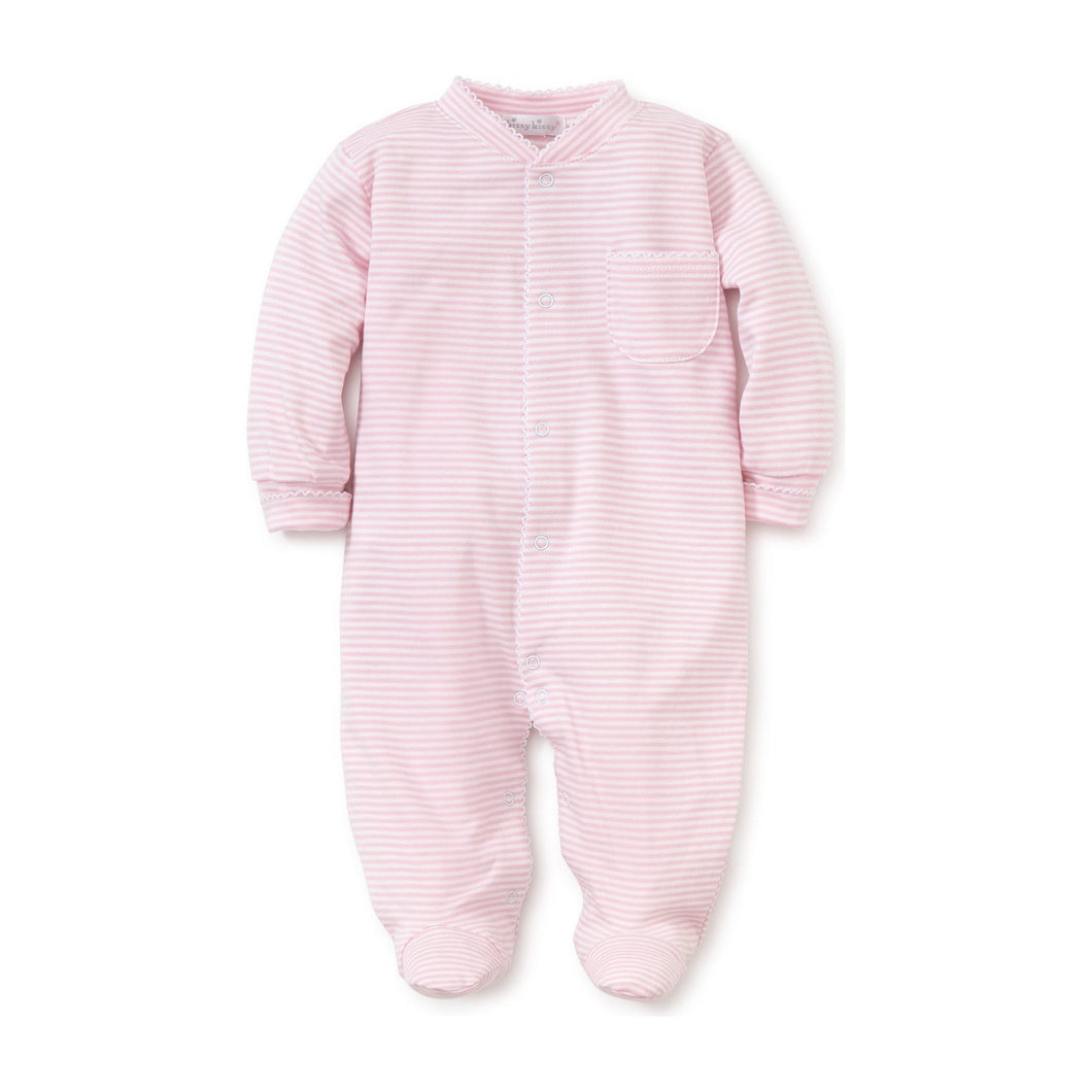 Kissy Kissy Striped Footie Pink