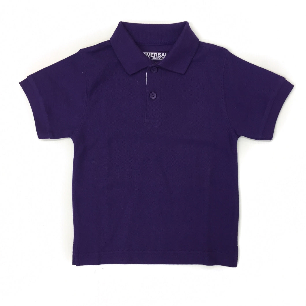 Universal Solid Polo Shirt Purple