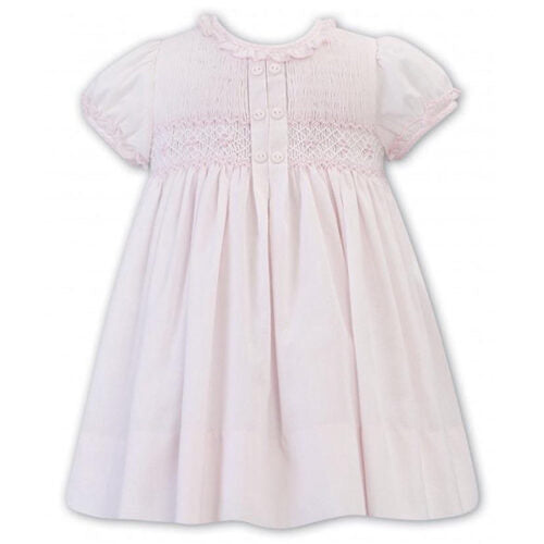 Sarah Louise Center Pleat Smocked Dress