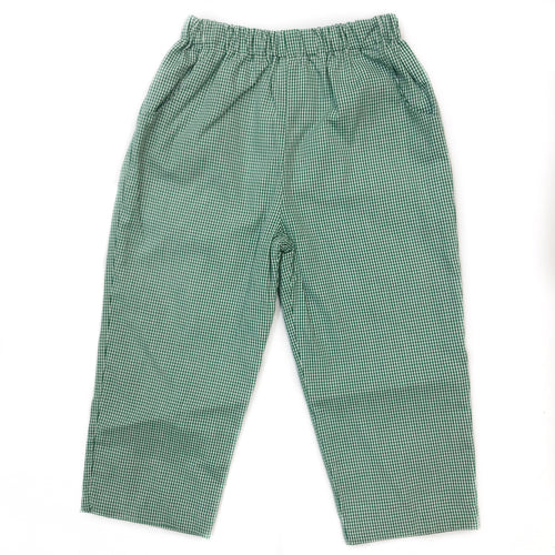 Banbury Cross Christmas Green Gingham Pant
