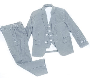 Junior Brand Blue Seersucker Suit