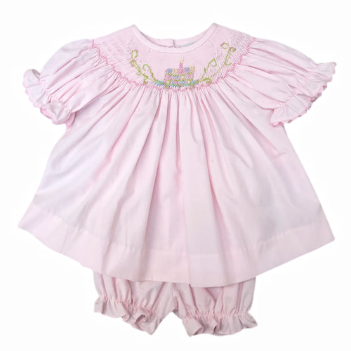 Delaney Pink Batiste Birthday Bloomer