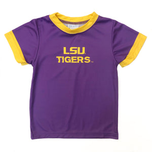 LSU Tigers Purple Ringer Dryfit Tee