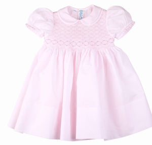 Feltman Pink Smocked Dress with Sash