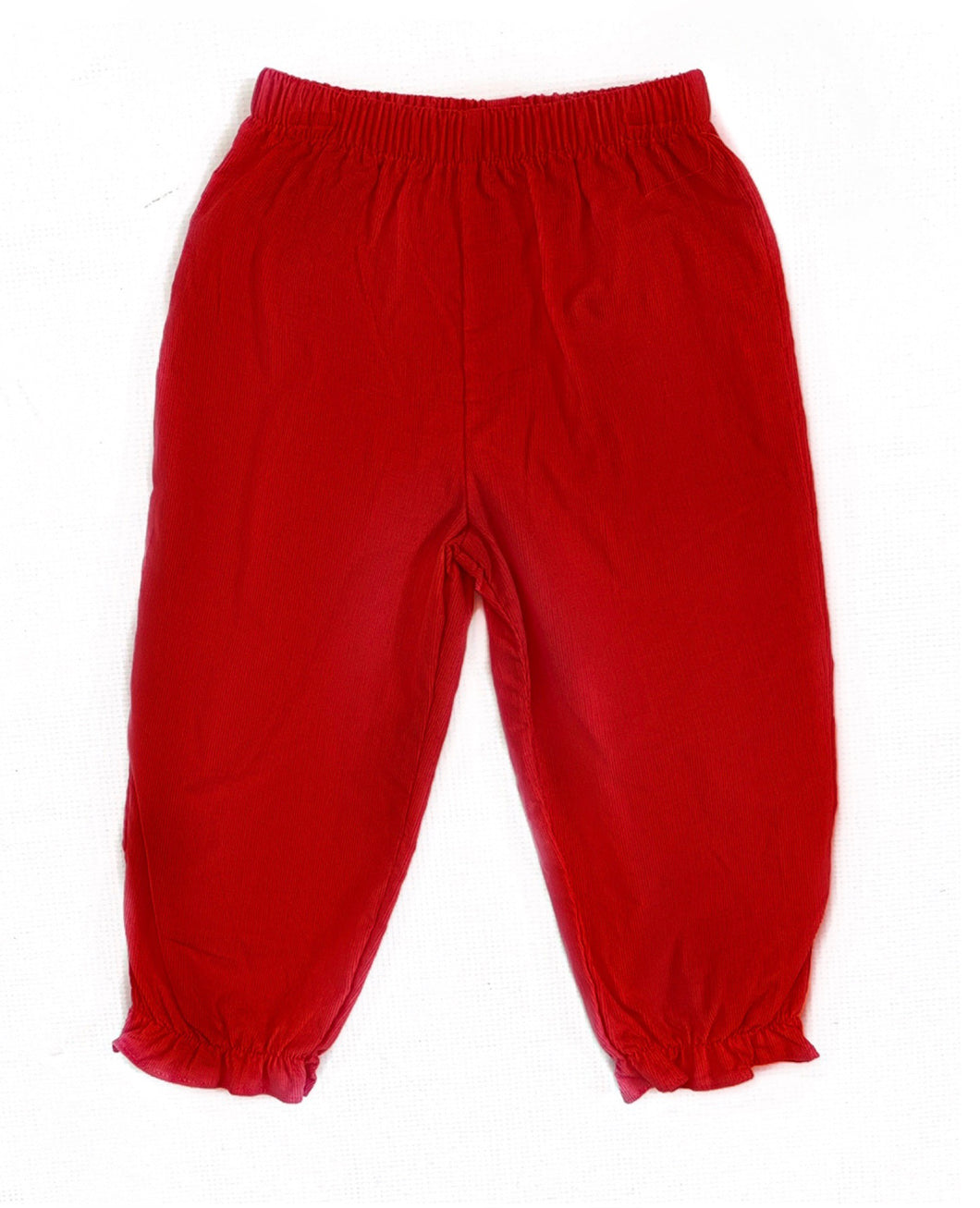 Banbury Red Corduroy Girl Long Bloomer