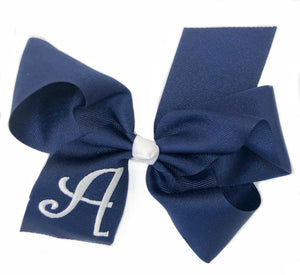 Banbury Medium Monogram Bow Navy/White Letter