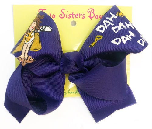 Two Sisters Purple Golden Girl Bow
