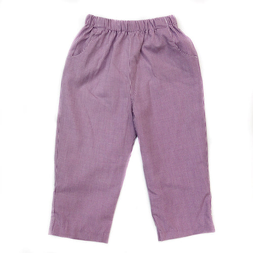 Banbury Cross Purple Gingham Pant