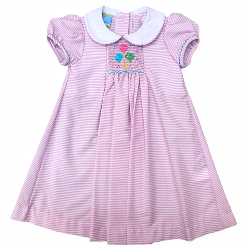 Anavini Birthday Balloon Stripe Dress