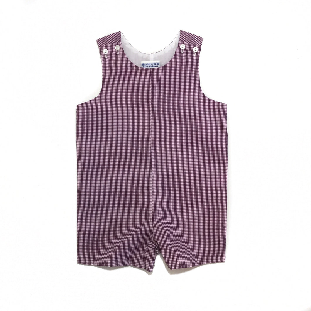 Banbury Basic Shortall Purple Check