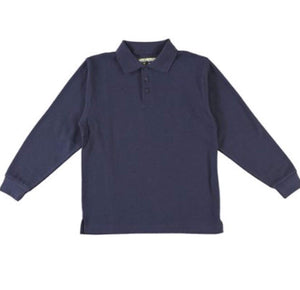 Universal Navy Long Sleeve Polo Shirt