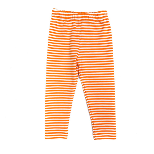 Luigi Orange/White Stripe Leggings