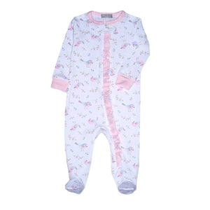 Baby Bliss Little Birds Zipper Footie