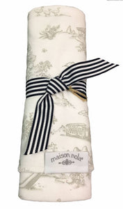 Maison Nola Toile Swaddle Blanket-Grey