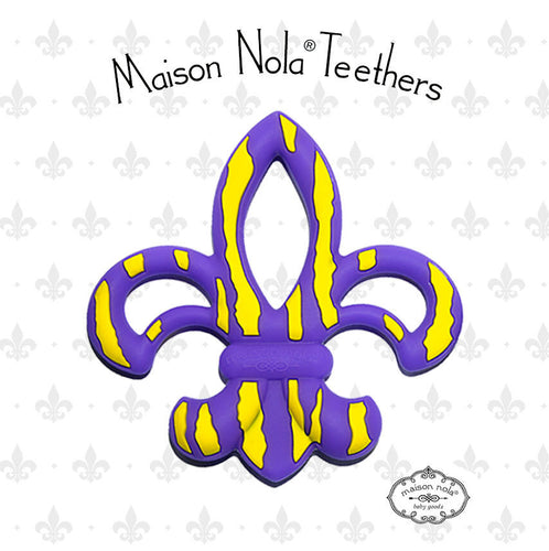 Maison Nola Tiger Fleur De Lis Teether