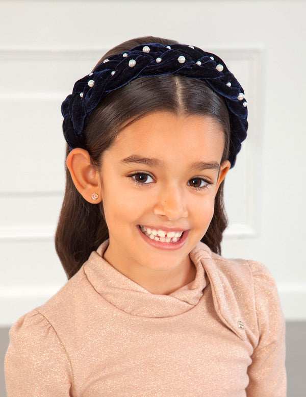 Mayoral Navy Velvet Headband