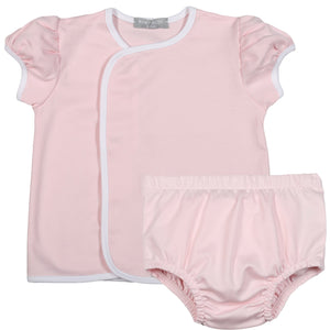 Baby Bliss Pink Pima Diaper Set