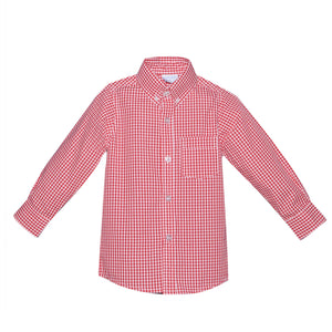 RN Red Check Boys' Button Down