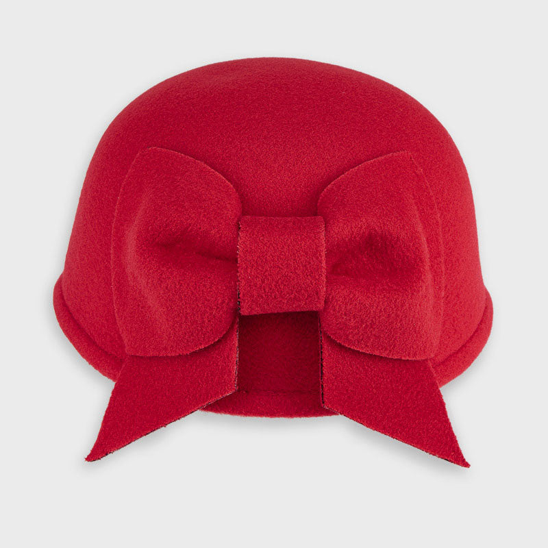 Mayoral Red Bow Hat