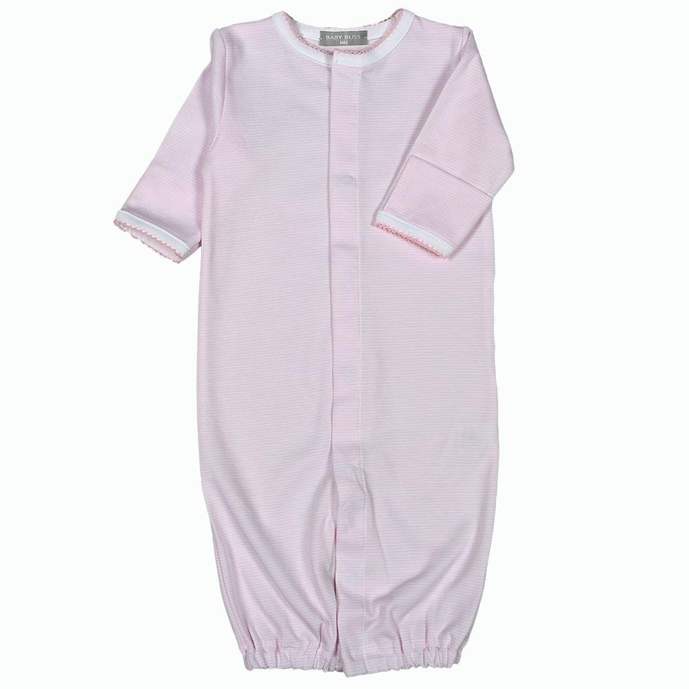 Baby Bliss Pink Stripes Converter Gown