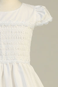 Swea Pea Smocked Top Dress Scallop Detail
