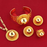 Ethiopian Eritrea Wedding Traditional Festival Jewelry Set Gold Color