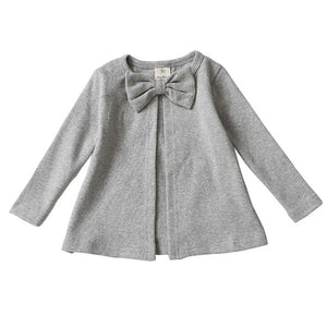 Baby Girls Coat Autumn Knitted Round Neck