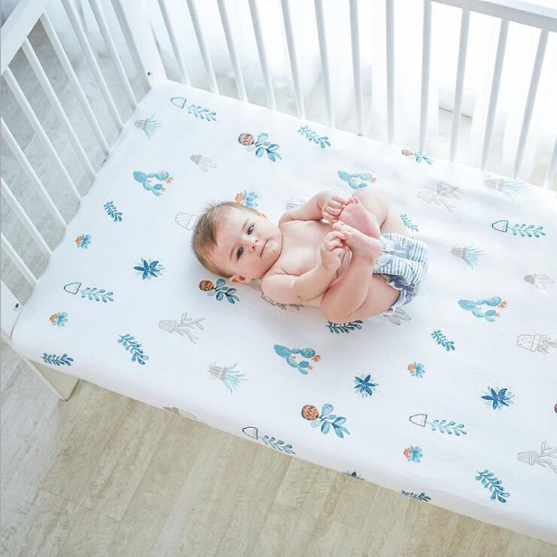 Cotton Cradle Shield Bed Sheet Soft Baby Bed