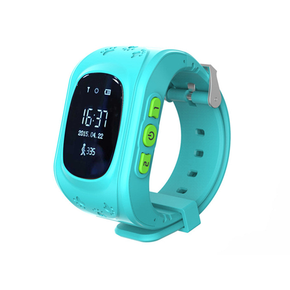 Smart Safe Watch Children SOS Smart Watch Anti-Lost Monitor Call Location Device GPS Tracker for Kids (English GPS Edition)