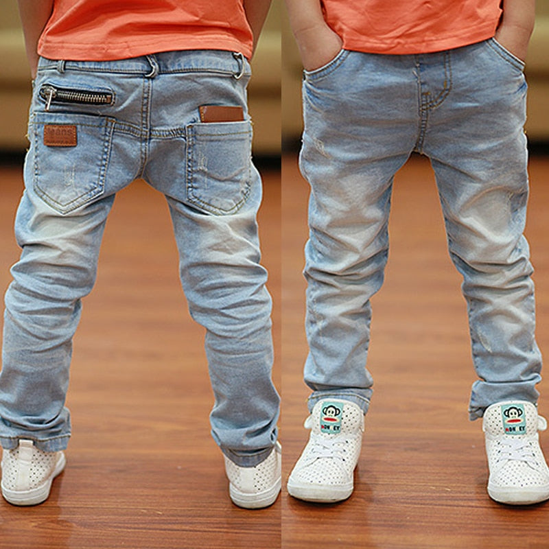 White boys jeans soft material fit